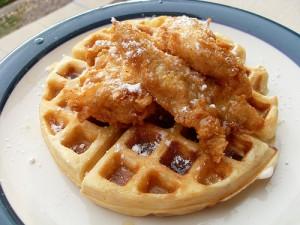 wafflewith chicken